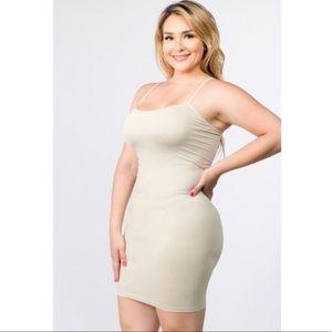 Women's Plus Size Cami Slip Dress Layering